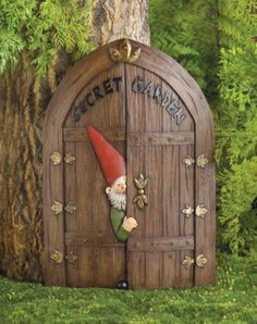 Fairy Door Gnome Garden Statue Statuary nome yard art for sale Garden Entrance, Garden Doors, Fairy Doors, Gnome Door, Gnome House, Elf Door, Fairy Garden Houses, Gnome Garden, Fairy Gardens