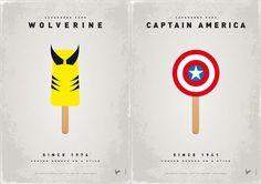 Superhero Ice Pops by Chung Kong (Wolverine & Captin America)