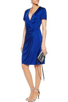 IssaAura wrap-effect satin-jersey dressfront