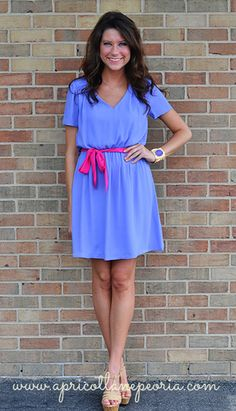 Pretty Periwinkle Dress, $46.00