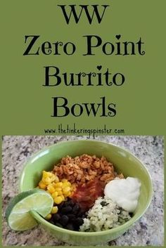 Enjoy my Arizona Burrito Bowls, made with riced cauliflower and ground turkey. T… Enjoy my Arizona Burrito Bowls, made with riced cauliflower and ground turkey. They're tasty and zero points on the Weight Watchers Freestyle program. Weight Watchers Lunches, Plats Weight Watchers, Weight Watchers Meal Plans, Weight Watchers Diet, Weight Watcher Dinners, Weight Watchers Program, Weight Watchers Smart Points, Weight Watchers Reviews, Weight Watcher Breakfast