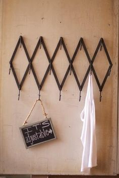 vintage inspired adjustable iron coat rack