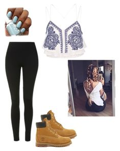"""""""👌🏽"""" by alyssahislope22 ❤ liked on Polyvore featuring Topshop, River Island and Timberland"""