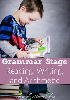 The Well-Trained Mind's chapters 5 and 6 are jammed with useful information about grammar stage reading, writing, arithmetic, setting up… Kids Reading, Teaching Reading, Teaching Kids, Kindergarten Homeschool Curriculum, Homeschooling, Well Trained Mind, Spelling And Grammar, Classical Education, Arithmetic