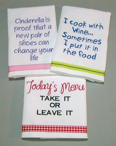 tea towels with funny sayings - Google Search