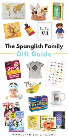 Don't stress thinking of Spanish gift ideas for bilingual families! Here's an awesome shopping list of Spanglish ideas, with something for everyone. Preschool Spanish, Elementary Spanish, Teaching Spanish, Spanish Class, Student Christmas Gifts, Student Gifts, Spanish Christmas, Spanish Basics, Rainy Day Fun
