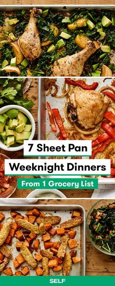 7 sheet pan weeknight dinners from 1 grocery list pinnable