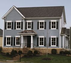 boothbay blue siding | James Hardie's Boothbay Blue with Arctic White trim