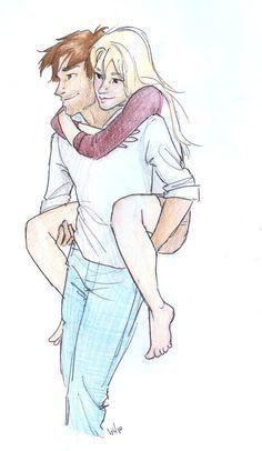 "Teddy Lupin and Victoire Weasley<<<<I was so confused at first ""Why does Remus have a blonde on his Back?!.... oooooohhhhhhh.... It's Teddy... awwwwwwwwwwwww owwwwwwww"""