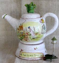 Gardener's Teapot by Julie Whitmore Pottery