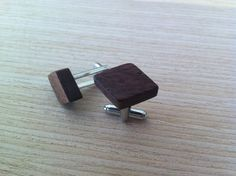 ZaTeKo walnut wood cufflinks by ZaTeKo on Etsy