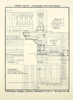architectur terra cota Terracotta, Gothic, Floor Plans, Diagram, Ornaments, Architecture, Arquitetura, Goth, Christmas Decorations