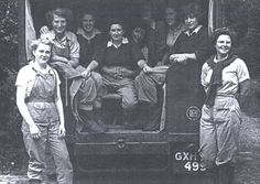 Margaret Perry trains a new intake of Land Girls