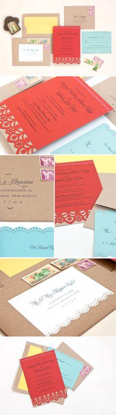 #Fiesta #wedding invitation • Lilly & Louise • lillyandlouise.com