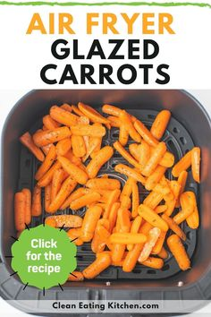 You're going to love this recipe for Air Fryer Glazed Carrots that is the perfect healthy side dish. This recipe is gluten-free, dairy-free, and vegan friendly. Make this easy side dish for the holidays or on a busy weeknight. Dairy Free Appetizers, Dairy Free Snacks, Healthy Side Dishes, Side Dishes Easy, Paleo Recipes, Whole Food Recipes, Recovery Food, Glazed Carrots