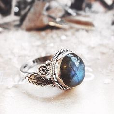 Queen of the Forest Fiery Labradorite & Sterling Silver Ring ✨ Shop magical Christmas gifts now at www.druzydreams.com