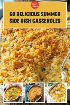 Think beyond salads and grilled veggies: these delicious casseroles make superb summer side dishes! Use your summer vegetables and make an outstanding side for your next big meal. Big Meals, Easy Meals, Grilled Side Dishes, Baked Corn, Summer Side Dishes, Grilled Veggies, Fresh Fruits And Vegetables, Grilling Recipes, Casserole Recipes