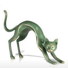Excited Cat Statue, Cat Artwork, Gift for Cat Lovers and Interior Decoration