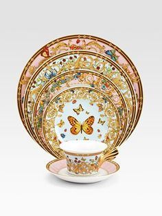 Versace - Butterfly Garden Service Plate - Saks.com