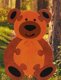 Wooden bear Puzzle, Handmade Puzzles, Educational Toys, Educational Gifts, Teddy Bear, Handmade in Israel, Handmade Gifts by RikmaProducts on Etsy