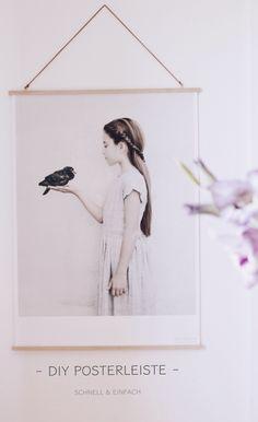 DIY kreative Bilderrahmen Posterleiste aus Holz schnell und einfach selber machen. Einfach Bastelidee für Zuhause.