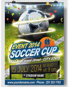 Soccer All Events Flyer - also Brazil - Party Flyer Templates For Clubs Business & Marketing