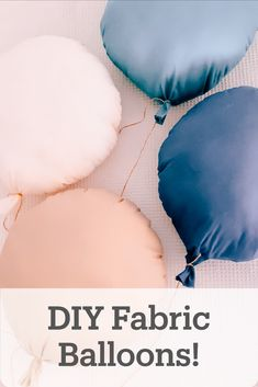 Learn how to make fabric balloons! - Make these eco-friendly, plastic free balloons for your next birthday party. Eco Friendly Cars, Friendly Plastic, Sustainable Wedding, Small Sewing Projects, Ballon, Diy Pillows, Fabric, Softies, Sustainability