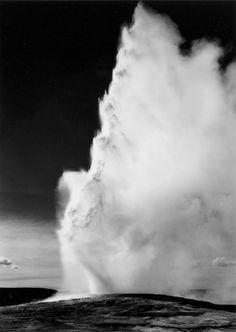 Ansel Adams, Old Faithful Geyser, Yellowstone, 1942.