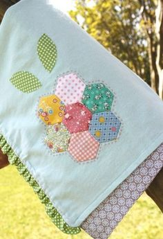 Quilt Blossom Flannel Blanket. Available exclusively at BabyGardner.com #babyquilt #BabyGardner