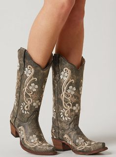 Corral Embroidered Cowboy Boot - Women's Shoes   Buckle