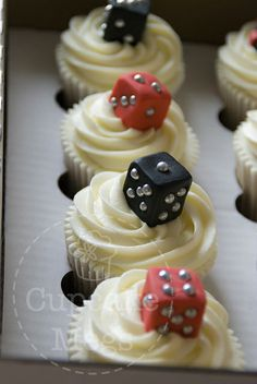 Dice Cupcakes - For all your cake decorating supplies, please visit craftcompany.co.uk