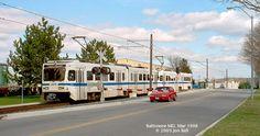 Baltimore MTA Light Rail near Hunt Valley