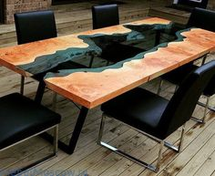 Amazing epoxy resin table types and how to make it step by step, stylish designs of the epoxy table for an unusual interior, top tips to make an epoxy resin table Wood Resin Table, Wooden Tables, Resin Furniture, Furniture Design, Dressing Table Design, Glass Fit, Into The Woods, Wood Slab, Wood Design