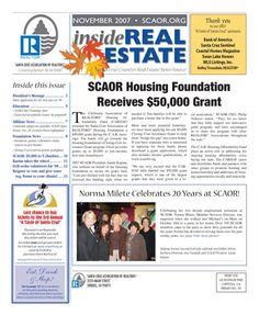Nov. 2007 SCAOR Newletter (newspaper) Cover  http://dixongraphics.com/portfolio_newsl.htm