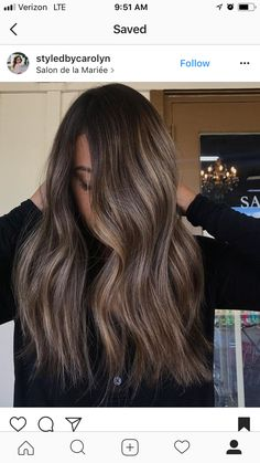 Trendy Hair Color Balayage Brunette Ombre Highlights 29 Ideas 30258628735118490 in 2020 Ombre Highlights, Brown Hair With Highlights, Brown Hair Colors, Brown Hair Balayage, Hair Color Balayage, Blonde Hair, Bayalage, Haircolor, Trending Hairstyles