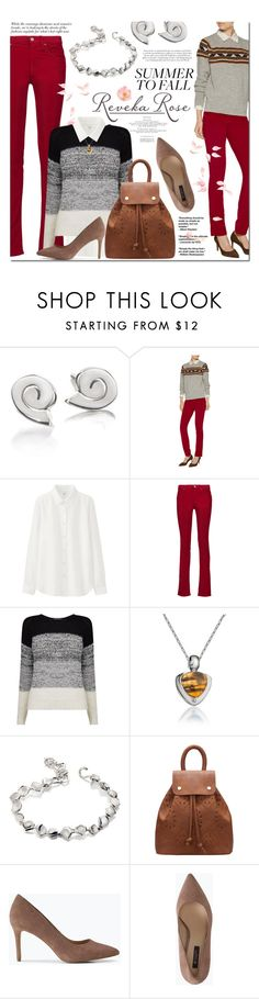 """""""Summer to Fall Reveka Rose Jewelry"""" by gorgeautiful ❤ liked on Polyvore featuring Étoile Isabel Marant, Uniqlo, Vero Moda and Tiger of Sweden"""