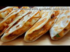 Taco Mexicana-Homemade Dominos Style in Tawa Diy Snacks, Quick Snacks, Tasty Snacks, Snack Recipes, Yummy Food, Veg Wraps, Veg Tacos, Food Lab, Food Food