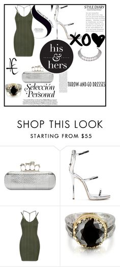 """""""Easy Peasy"""" by zoe-keredy ❤ liked on Polyvore featuring Alexander McQueen, Giuseppe Zanotti, Topshop, Tryò and Cartier"""