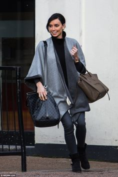 She is currently filling Holly Willoughby's shoes on This Morning. But Christine Bleakley cut her own fashionable figure when she was seen leaving the ITV studios on Wednesday. 36th Birthday, Girl Birthday, Christine Bleakley, Saint Laurent Shoes, Holly Willoughby, Celine Bag, Autumn Fashion, Zara, Normcore