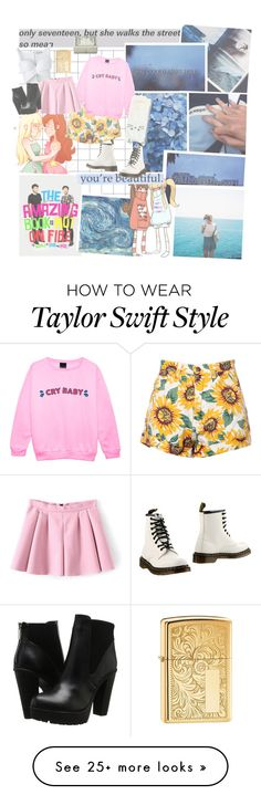 """""""{she laughs like , her minds like a diamond"""" by lolitalittle on Polyvore featuring Dr. Martens, Steve Madden, Balenciaga and Zippo Taylor Swift Outfits, Taylor Swift Style, Out Of Style, Steve Madden, Balenciaga, Going Out, God, Diamond, Random"""
