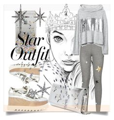 """""""Twinkle, Twinkle: Star Outfits"""" by kari-c ❤ liked on Polyvore featuring Forever 21, STELLA McCARTNEY, Sundry, Giuseppe Zanotti, Federica Tosi and StarOutfits"""