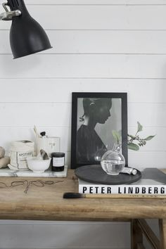 Vignette in in the home of Swedish stylist Pella Hedeby. Photo: Sara Medina Lind - My Home Magazine.