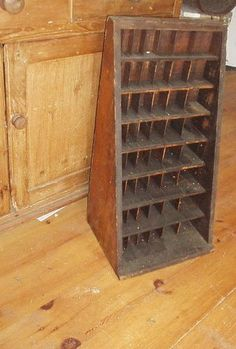 WONDERFUL BIG ANTIQUE CUBBY CUPBOARD W/CUBBIES ... | Boxes & Containe ...