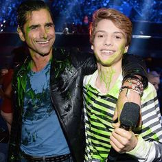 John Stamos, Fifth Harmony, Blake Shelton and More Stars Get Slimed at the Kids' Choice Awards 2016  John Stamos, Jace Norman, Kids Choice Awards
