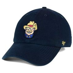 '47 Brand Frisco RoughRiders Clean Up Cap ($28) ❤ liked on Polyvore featuring men's fashion, men's accessories, men's hats, navy and mens caps and hats