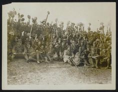 Northumberland Fusiliers after taking a village near St Eloi, outside Arras, 27th Mar 1916