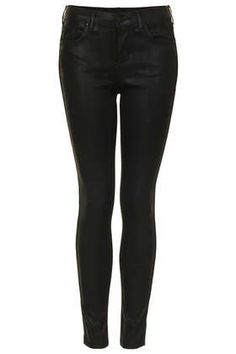 MOTO Black Coated Leigh Jeans