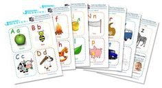 Alphabet Printables & Flash Cards For You and Your Child