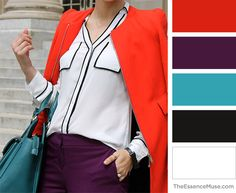 Bold. Edgy. Refined. Simple Work Outfits, Signature Look, Classic Style Women, Casual Chic Style, Womens Fashion For Work, Color Pallets, Fashion Branding, Colorful Fashion, Color Patterns