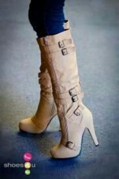 Love the color and buckles, perfect heel height for a movie date night with hubby.